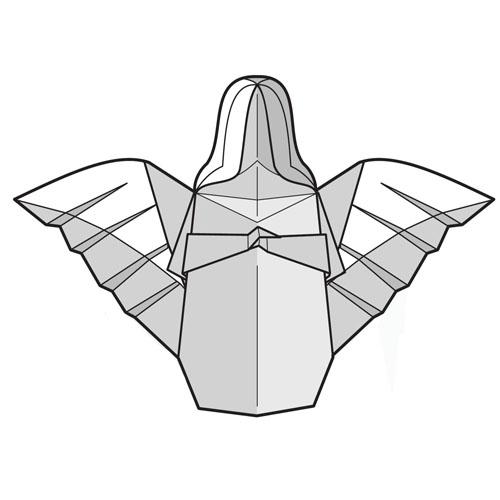 Ангел из модулей схемы