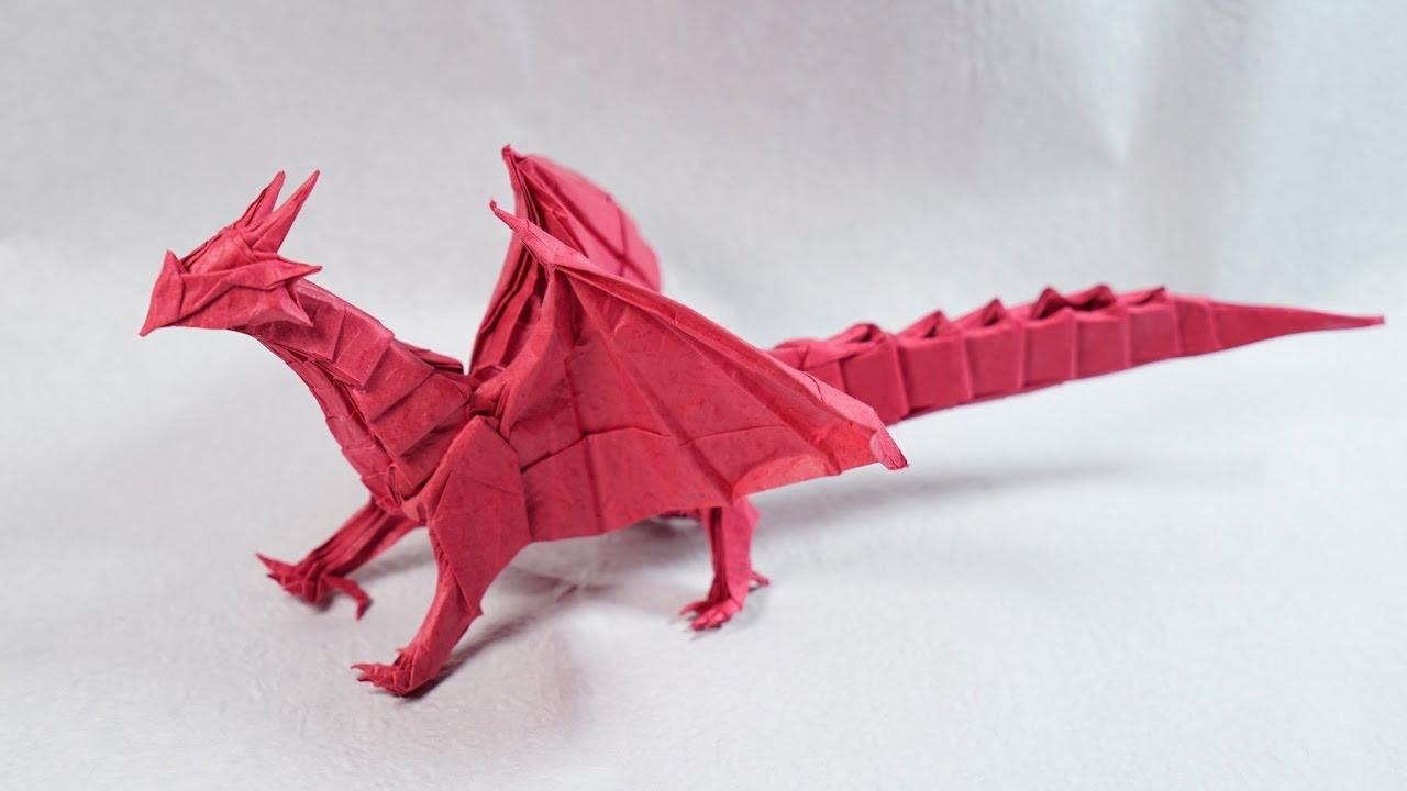 оригами дракон схема сборки с ночало то конца