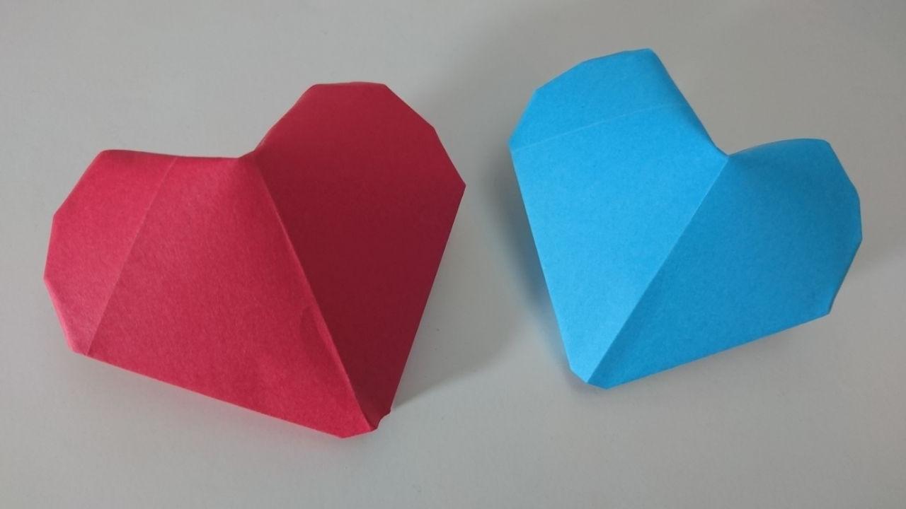 сердце оригами схема сборки