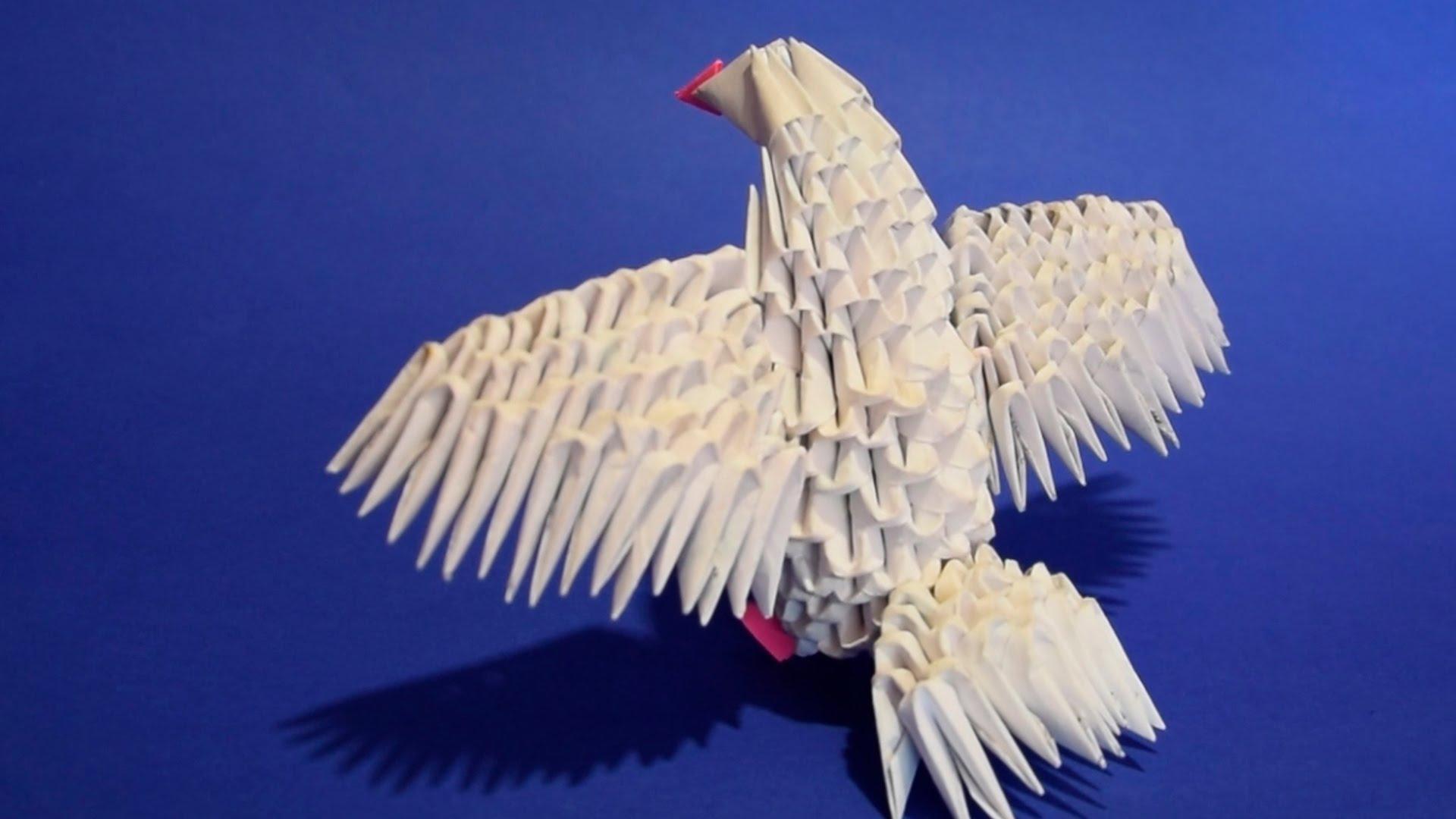 оригами модульный голубь схема