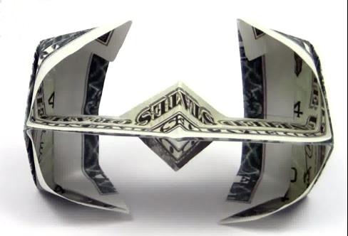 любителей оригами из денег