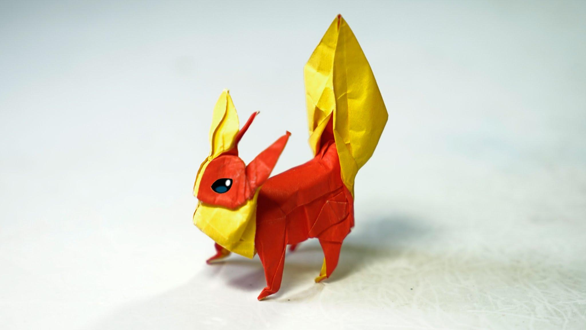 оригами собачка виео схема