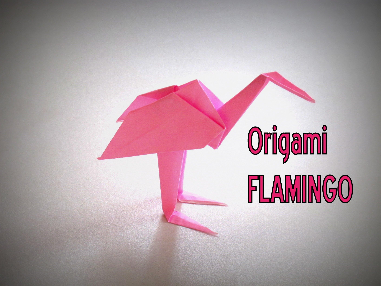 Модульное оригами розовый фламинго схема
