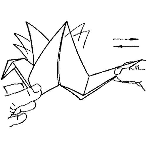 Бумажный журавлик очень