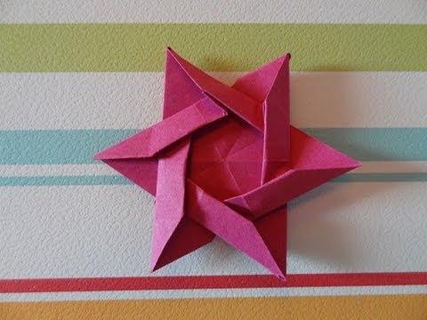 Пред вами урок оригами звезды