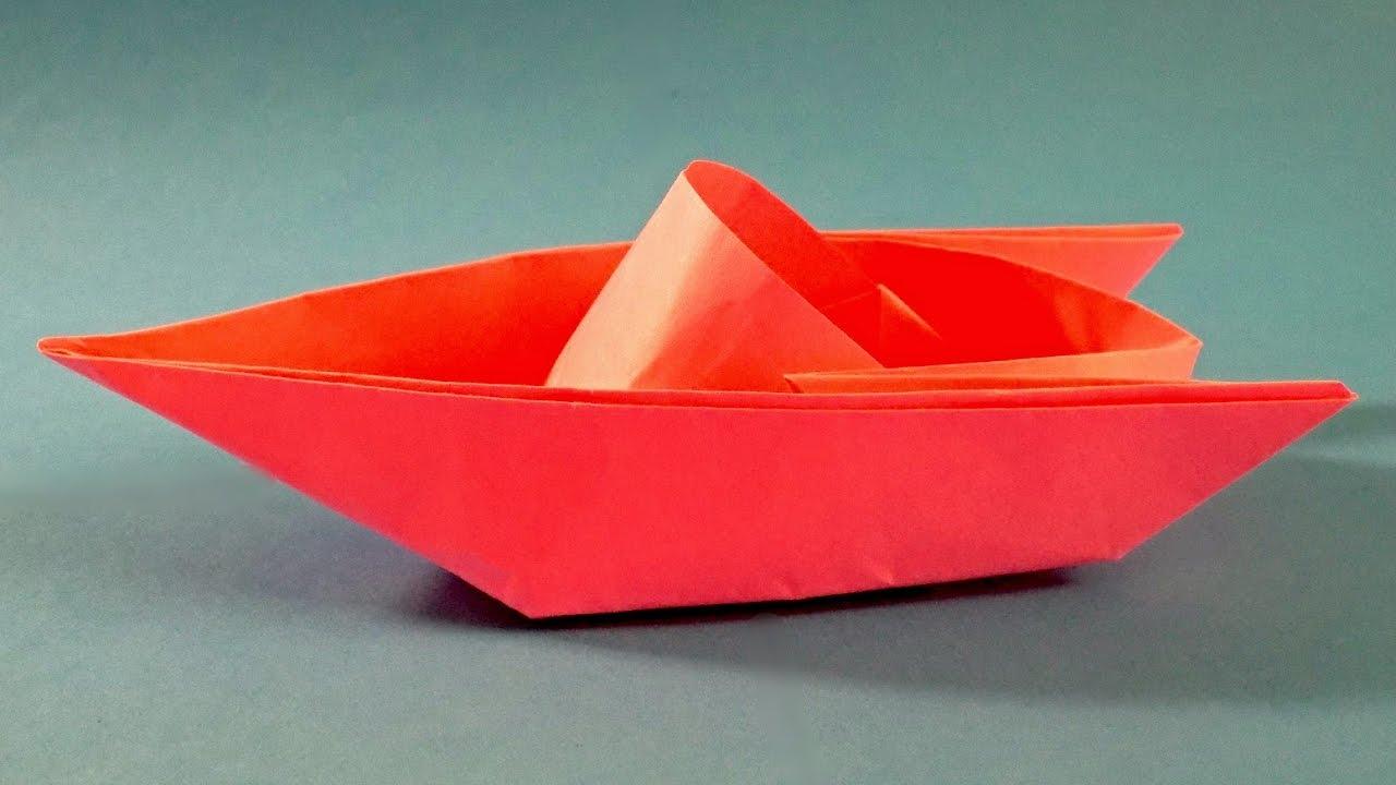 Как сделать бумажный кораблик видео фото 114